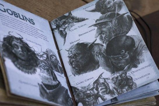 closeup page of goblin renderings