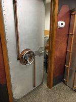 riveted door