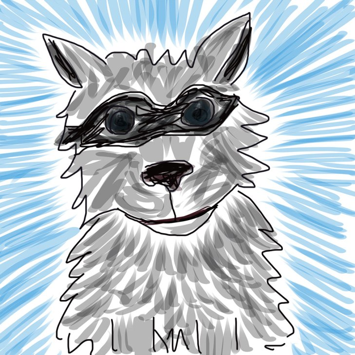 digital drawing of a dog