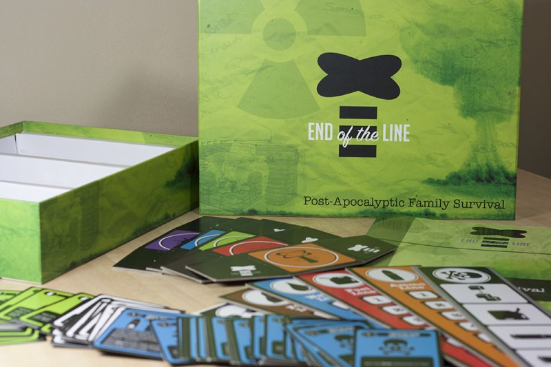 close up of End of the Line board game