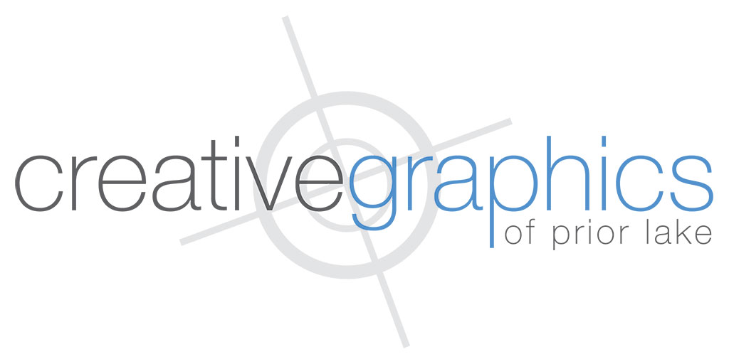 logo for Creative Graphics: white background, registration mark