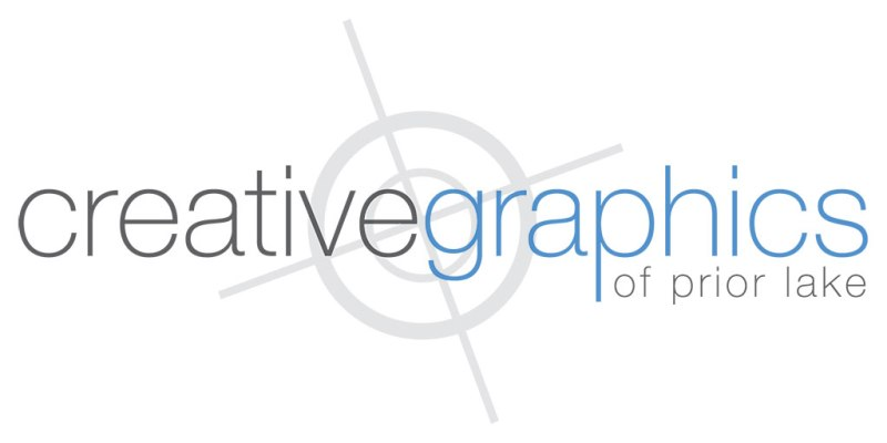 logo for Creative Graphics: white background, registration mark
