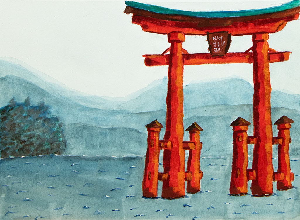 Japanese Gate in Water