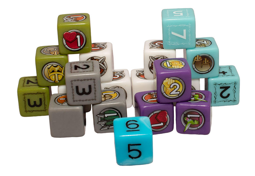 closeup image of Cloudspire dice