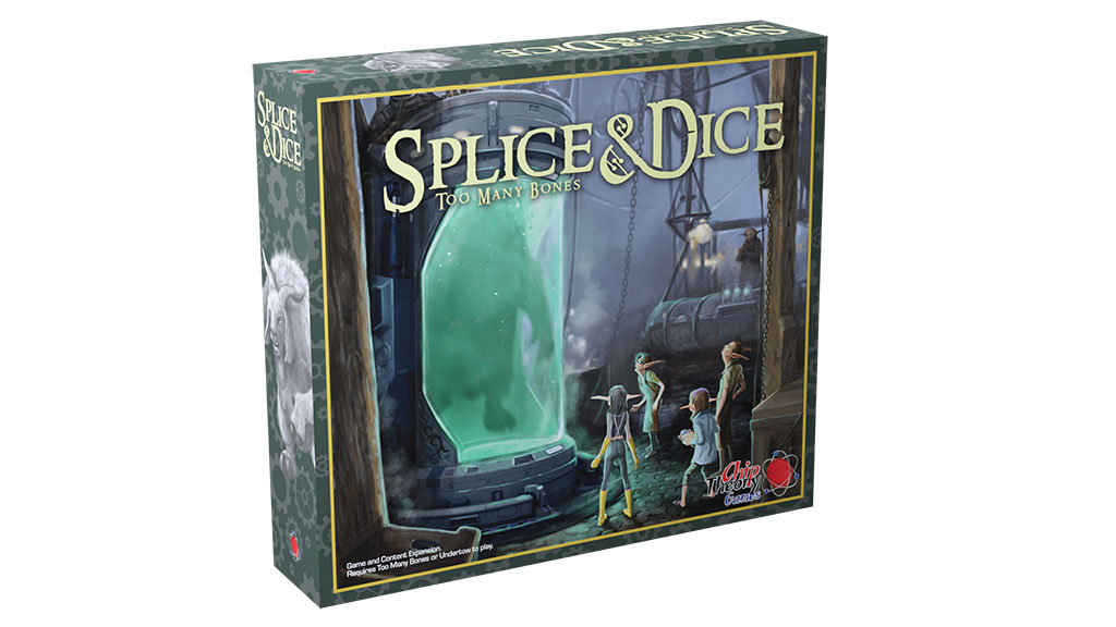 3D rendering of box for Splice & Dice, a Too Many Bones expansion